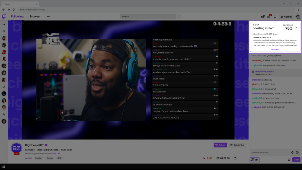 Boost this stream 1